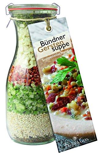 Bündner Gerstensuppe – eine leckere Kombination aus Perlgraupen und Gemüse - als Essen zum...