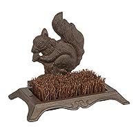 Gardman 82246 Squirrel Cast Iron Boot Scraper - Brown