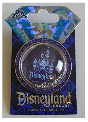 Disneyland 60. Jahrestag Diamant Celebration Sleeping Beauty Castle Globe W/Jewels Trading Pin