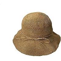 XIAOXINYUAN Pieghevole Vacanza Balneare Ombreggiatura Cappello di Paglia  Femmina Realizzato A Mano del Pescatore Hat Estate 72349f1c21cc
