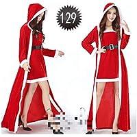 SDLRYF Disfraz De Papá Noel Disfraces De Navidad Santa Claus Ropa Mujer Adultos Visten Trajes Mostrar El Rendimiento(Apto para 45-55Kg)