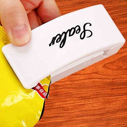 Dayalu Portable Handheld Household Electronic Mini Heat Sealing Machine Plastic Food Snacks Bag Packing Sealer Tool (Multicolour)