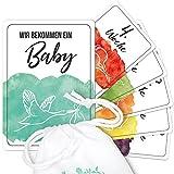 30 Meilensteinkarten für die Schwangerschaft Wochen-Karten Fotoshooting Tagebuch Meilensteine Schwangerschaftskarten Geschenk-Idee Babyparty Baby-Shower Foto-Album Foto-Karten als Erinnerung