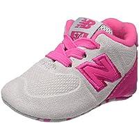NEW BALANCE - Fuchsia Schuh für die Wiege mit Schnürsenkel, aus Wildleder und Synthetik, seitlich ein weißes Logo und Stoffsohle, Mädchen-17