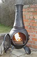Castmaster Chiminea Cast Iron Braided Design – Black Finish