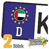 Vereinigte Arabische Emirate Kennzeichen Aufkleber Sticker Nummernschild Land Country Nation