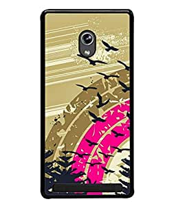 Asus Zenfone 5 A501CG Back Cover Tropical Background With Circles And Splash In Rainbow Colors Vector Illustration Design From FUSON
