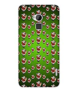 "NH10 DESIGNS 3D PRITING DESIGNER HARD SHELL POLYCARBONATE ""SANTA CLAUSE"" PRINTED SHOCK PROOF WATER RESISTANT SLIM BACK COVER MATT FINISH FOR HTC ONE MAX/HTCONEMAX/HTCONE MAX"