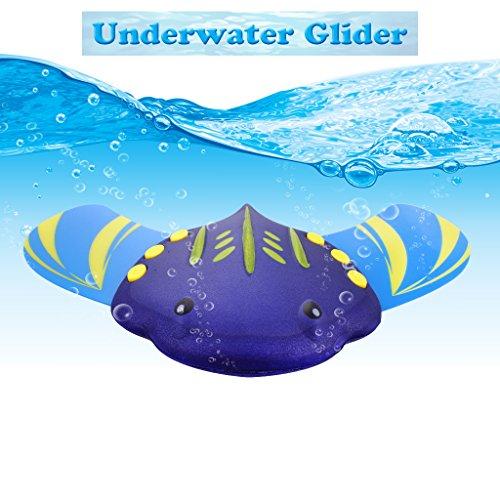 Edealing Schwimmen Spielzeug Unterwasser Segelflugzeug mit verstellbaren Flossen - Hydrodynamische Sommer Pool Spielzeug Wasser Sport Spielzeug - Fisch Form (Pool Spielzeug Für Erwachsene)