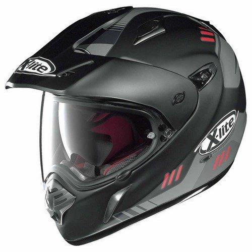 Preisvergleich Produktbild X-lite X-551GT CALAMA Endurohelm Motorrad Verbundfaser n-com - matt schwarz rot Größe XL