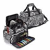 Zebra Bag LuckyFine Zebra Borsa Salone Multifunzionale Borsa Hairstylist Tasca Per Strumenti Di Capelli Duffle