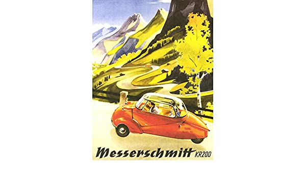 Advert Car Automobile Messerschmitt Kr200 Bubble Germany 12X16 Inch Framed Print