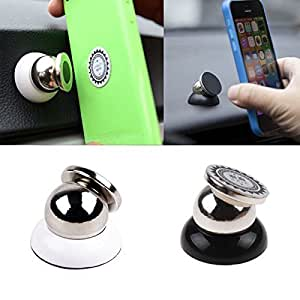 PR Universal 360 Degree Rotating Car ; Magnetic Mount Holder Stand for All Phone Sizes; Mobile; Tablet or GPS Hyundai Santro (Silver)