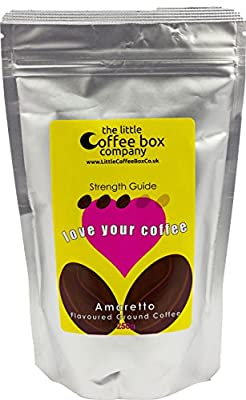 Amaretto Flavoured Ground Coffee 250g - Premium Roast Flavour from The Little Coffee Box Co