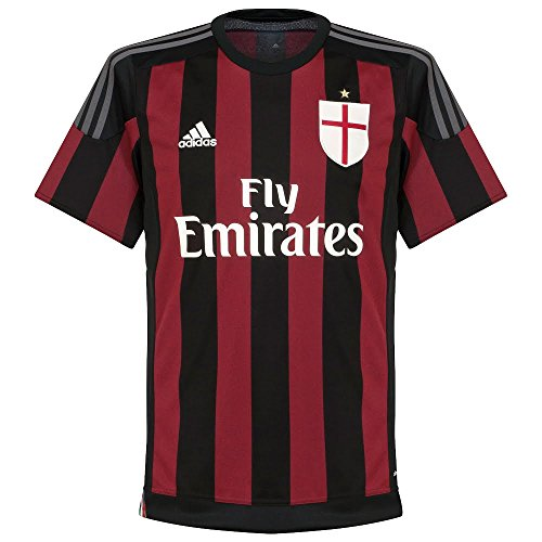 Adidas 2015-2016 ac milan home football soccer t-shirt maglia (kids)