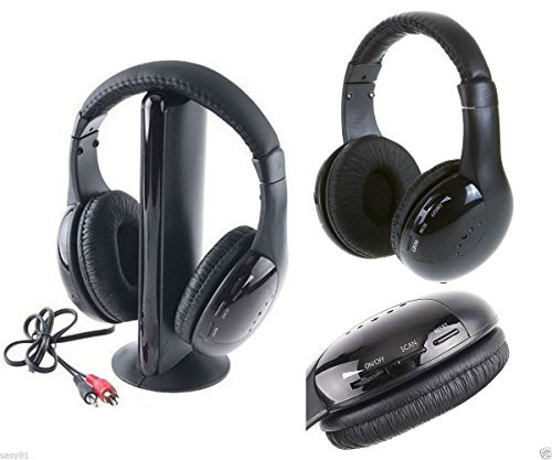takestop® Kopfhörer 5in 1Wireless Ohne Draht Radio FM MP3PC TV Audio Headset Radio-draht