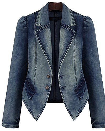 Women's Jeans Biker Jacket Cardigans Blazer Casual Jacket Classic Vintage Stylish Outwear Coat