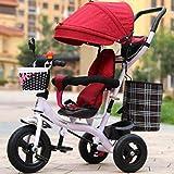 Baby Children Tricycle Male and Female Baby Bike Trolley /1-2-3-6-year-old Kid Bike Ba