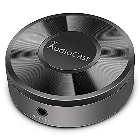 Airplay Empfänger, RIVERSONG Airplay Adapter Musik Empfänger mit Streaming Dienste, WiFi Audio Airplay Multi-Room Receiver Empfänger Kabelloser, WLAN Musik Receiver Empfänger für AirPlay / DLNA / UPnP / WiFi