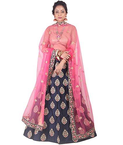 Indian Ethnicwear Bollywood Pakistani Wedding Purple A-Line Lehenga Semi-stitched