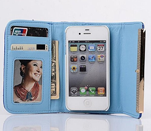E-Max 4 en 1 Wallet Flip Case Cover Housse Portefeuille Etui Pour Coque Apple iPhone 6 Plus 5.5 Inch , Stylus et Film protecteur inclus, Brun (E03) D02
