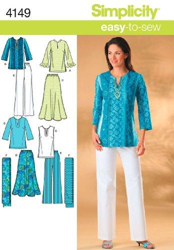 Simplicity Schnittmuster 4149 AA für Damen-Sportbekleidung in Übergrößen Womens Elite Hose