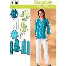 Simplicity 4149 AA - Patrones de costura para ropa deportiva de tallas especiales de mujer