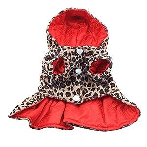 Brightup Princesse Robe Leopard Manteau Hoodie Tutu robe Pour Petit chien chat