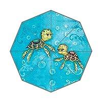 EnnE Turtle Umbrella Rain Windproof Compact Folding Travel Umbrella UV Protection