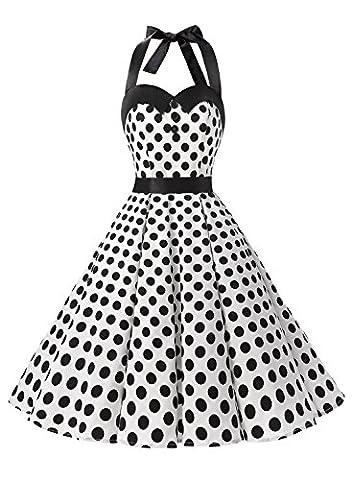Robe Noir Vintage - Dressystar DS1957 Robe de bal Polka Vintage