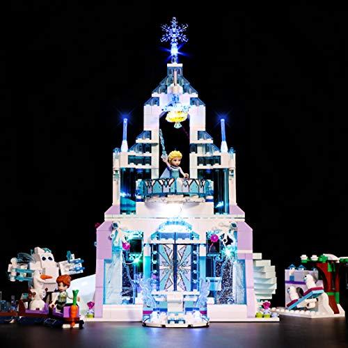 Poxl LED Beleuchtung Für Elsas Magischer Eispalast, LED Light LED Licht Kit Kompatibel Mit Lego 41148 - Lego Modell Nicht Enthalten