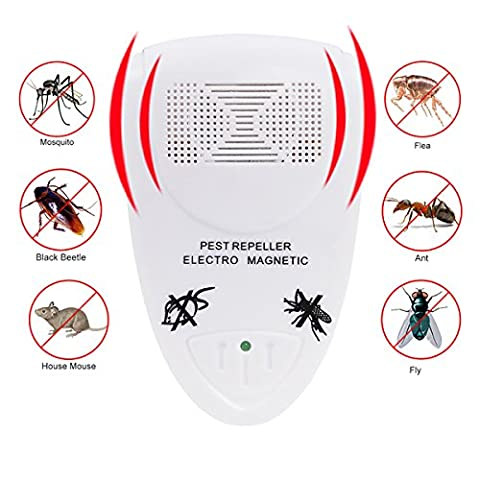 Ultrasonic Pest Control, CozyLine Electronic Ultrasonic Rat Mouse Repeller Anti Mosquito Mice Repellent Plug in Insect Control