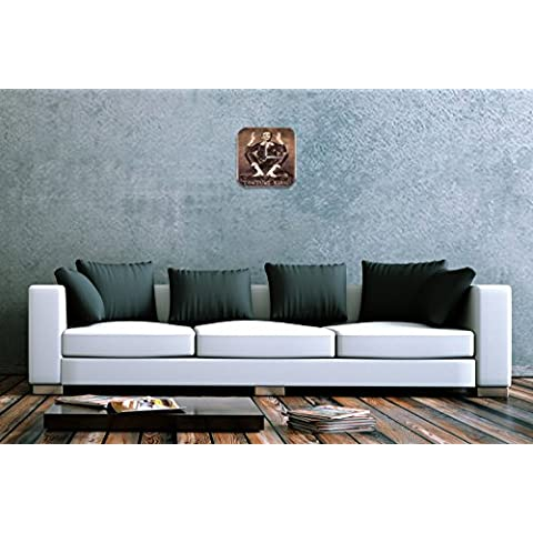 Orologio da parete Circo Sadomaso Plexiglas Acrillico Stampato
