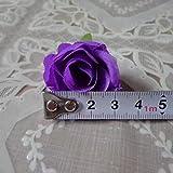 Doyeemei, 50 rose artificiali (senza stelo) da 3cm, decorazione per matrimoni, Purple