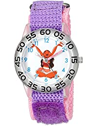 Disney Girl's 'Moana' Quartz Plastic and Nylon Casual Watch