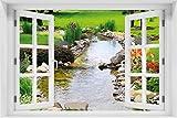 Wallario selbstklebendes Poster - Blumen am Teich in Premiumqualität, Größe: 61 x 91,5 cm (Maxiposter)