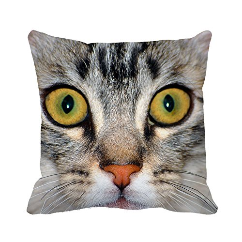 Yinggouen Big Eyes Cat decorare per un divano federa cuscino 45x 45cm