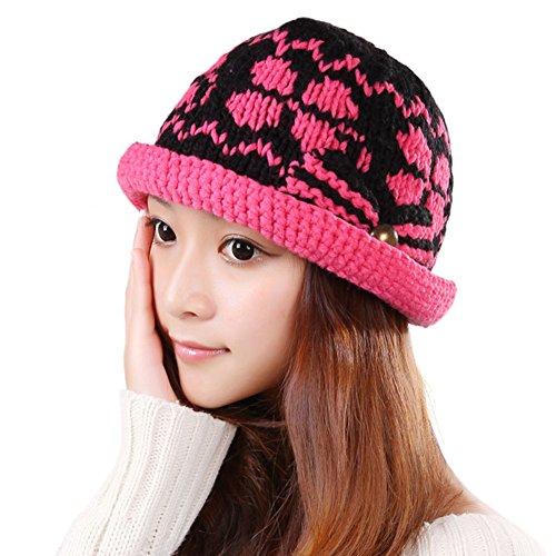 Chapeaux de dames coréen/Chapeau de laine féminin/Chapeau chaud de mode/Bonnet tricoté E