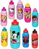 """1 Stück _ Trinkflasche / Sportflasche - auslaufsicher - """" Mädchen Motiv """" - incl. Name - aus Kunststoff - 400 ml - für Kinder Kunststoffflasche - 0,4 Liter / Flasche - Plastik - Fahrradflasche - Princess - Hello Kitty - Sofia - Winnie Pooh - Trinklernflasche - Kinderfahrradflasche - Kindertrinkflasche / Plastikflasche"""