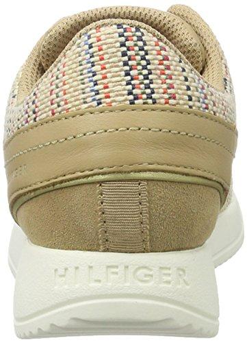 Tommy Hilfiger Damen S1285amantha 2z1 Sneakers Beige (Interweave Multi 910)