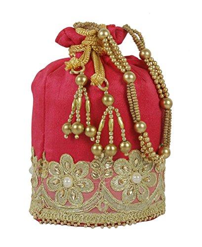 Purse Collection Damen Geldbörse, Jaipuri-Stil, indisches Potli mit kompletter Stickerei-Arbeit
