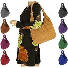 OBC fabricado en italy Mujer XXL piel de ante Shopper–Bolso de bandolera Hobo bag bolsa