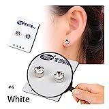 DAY.LIN Damen Ohrringe Schmuck Ohrstecker stecker Gewichtsverlust Ohrringe Crystal abnehmen gesunden Akupunkturpunkte Stud Magnetfeldtherapie (D)