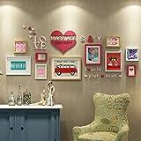 William 337 Hochzeitszimmer Schlafzimmer Kreative Wand Kombi-Rahmen Wand Hochzeit Geschenk Thank You Fotowand Warm Herzform Fotowand, B