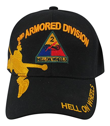 eb63e53e9d19d US Warriors U.S. Army 2nd Armored Division Baseball Hat One Size Black