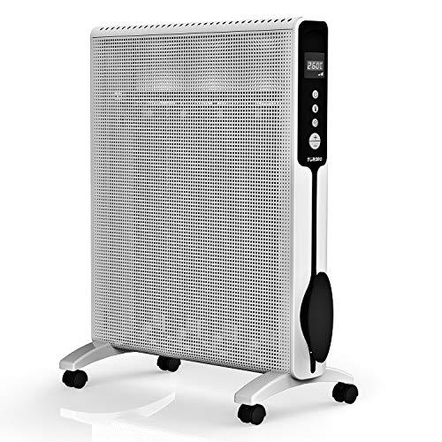 TURBRO Arcade HR1020 Heizung Mica Wärmewelle heizgerät 2000W, Elektrische Heizung mit einstellbarem Thermostat, Timer und Fernbedienung, leise für Zuhause und Büro 220-240V (Weiß)