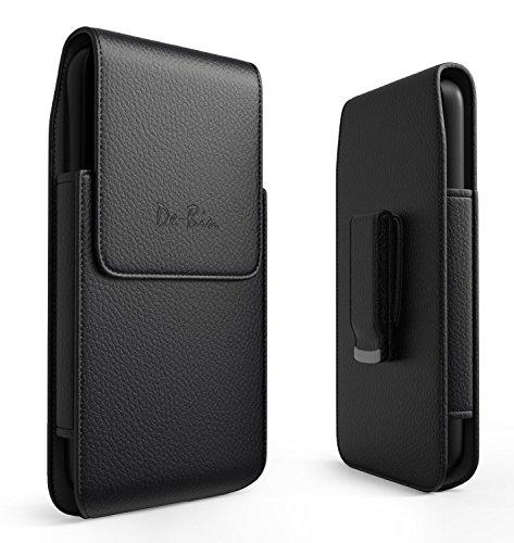 lorem Vertikal iPhone X Gürtel Fall mit Clip Sleeve, aus Leder, der Halter für Apple iPhone X Handy (Large Pouch für iPhone X mit Otterbox dünn Fall auf) Swivel Clip Carry Sleeve