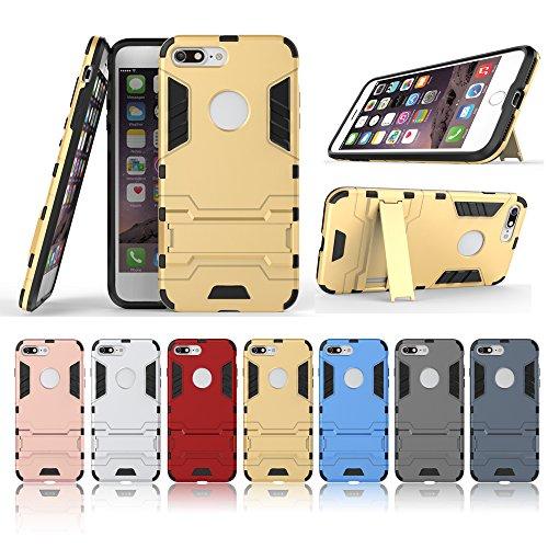 BCIT iPhone 7 Plus Custodia- Ultra Sottile 2-in-1 Case Protettivo Estrema Assorbimento-Urti [Kickstand] Armatura Cover Per iPhone 7 Plus - Oro Nero