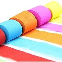 SUNBEAUTY 7er Set 7 Farben Regenbogen Krepppapier Kreppbänder Deko Party Feier Dekoration (7 Stück)