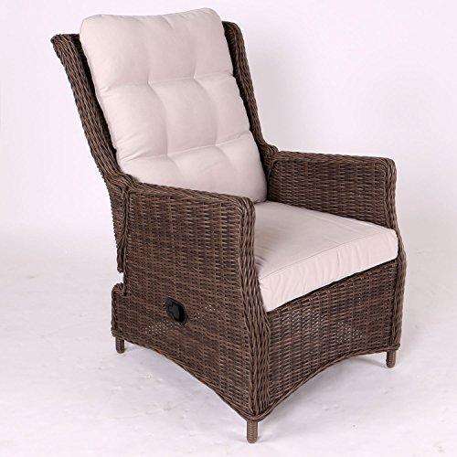 Destiny Sessel Casa Grande Luxe Komfortsessel Verstellsessel Polyrattan Braun